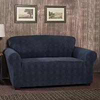 Stretch Sensation Stretch Plaid Loveseat Slipcover