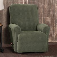 Stretch Sensation Stretch Plaid Recliner Slipcover
