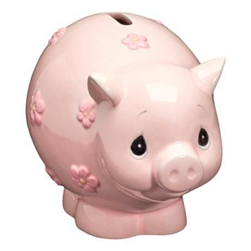 Precious Moments Pink Piggy Bank