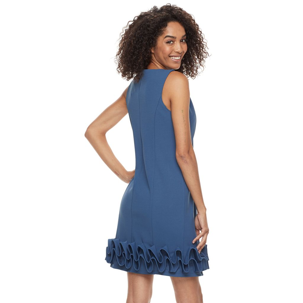 Women's Nina Leonard Wave Shift Dress