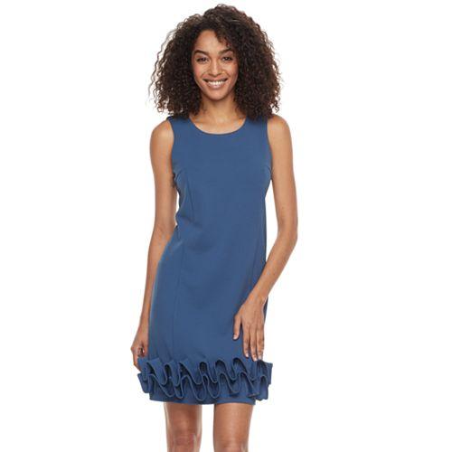 Women's Nina Leonard Wave Shift Dress