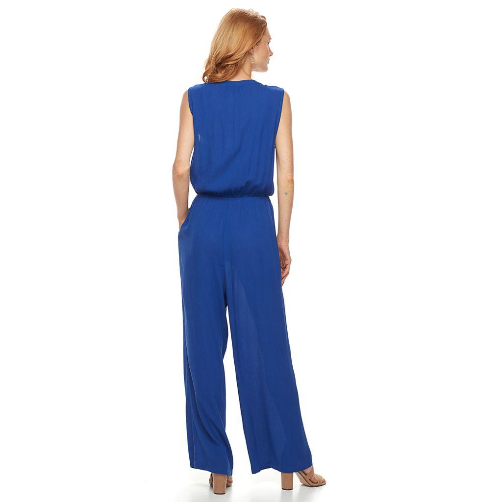 Women's Nina Leonard Crinkle Jumpsuit