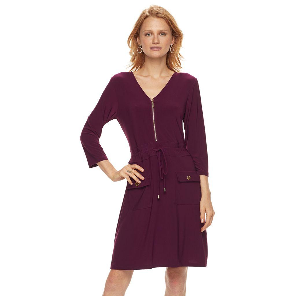 Women's Nina Leonard Cinched-Waist Shirtdress