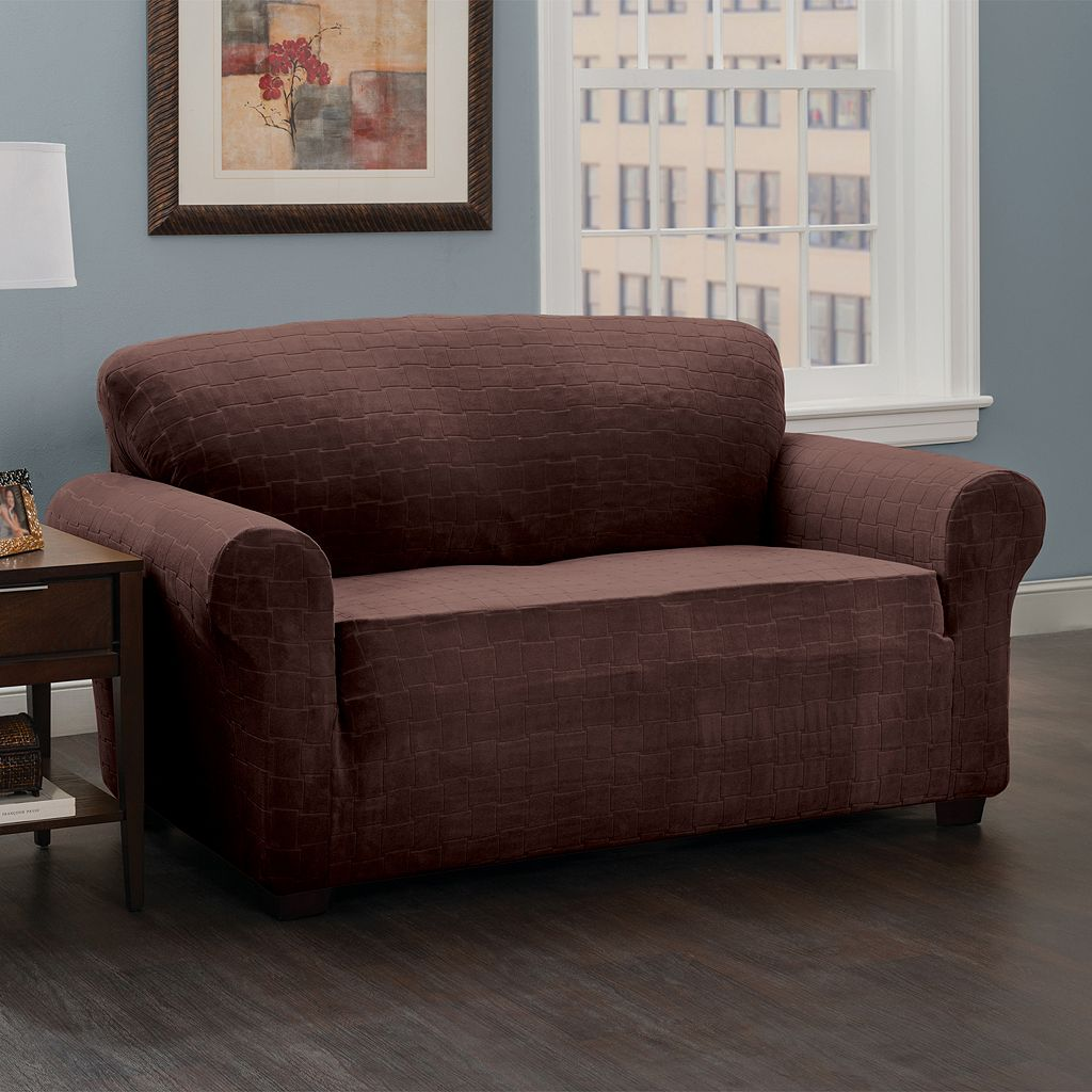 Stretch Sensation Basketweave Sofa Slipcover