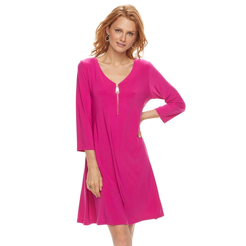 Women's Nina Leonard Solid Swing Dress