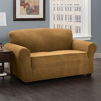 Stretch Sensation Basketweave Loveseat Slipcover