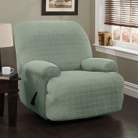 Stretch Sensation Basketweave Jumbo Recliner Slipcover