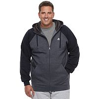 Big & Tall Russell Modern-Fit Full-Zip Raglan Hoodie