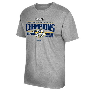 Men's Reebok Nashville Predators 2017 Conference Champions Locker Room Tee