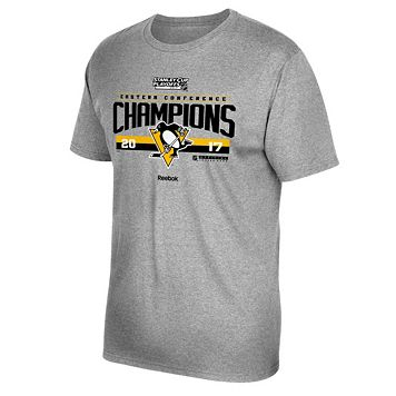 Men's Reebok Pittsburgh Penguins 2017 Conference Champions Locker Room Tee