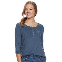 Women's SONOMA Goods for Life™ Embroidered Henley Tee