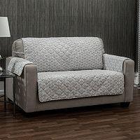 Ron Chereskin Reversible Geometric Basketweave Sofa Slipcover