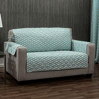 Ron Chereskin Reversible Geometric Basketweave Sofa Slipcover