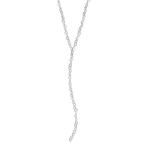 PRIMROSE Sterling Silver Heart Link Y Necklace