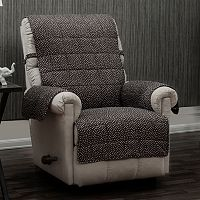 Ron Chereskin Reversible Pearls Dots Recliner or Wing Chair Slipcover