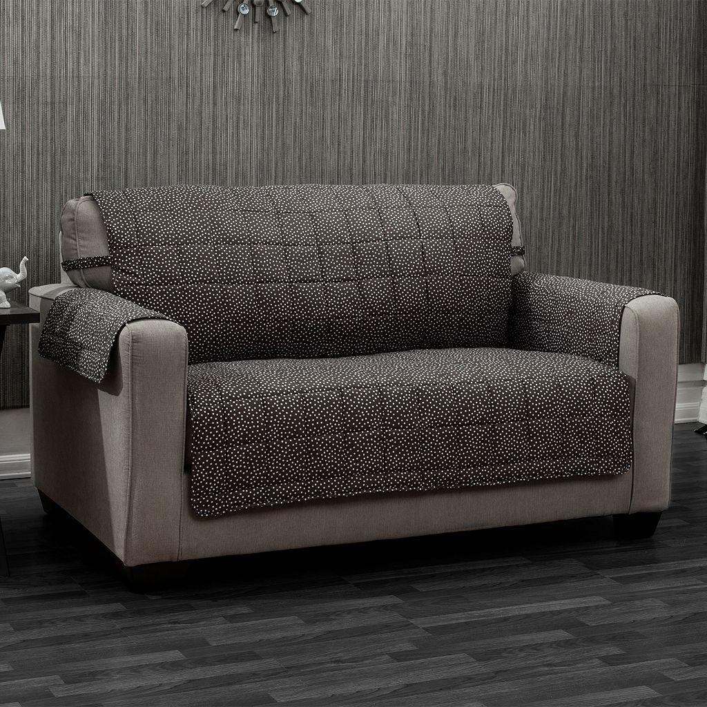 Ron Chereskin Reversible Pearls Dots Sofa Slipcover