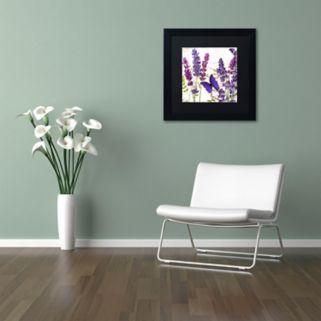 Trademark Fine Art Lavender I Black Framed Wall Art