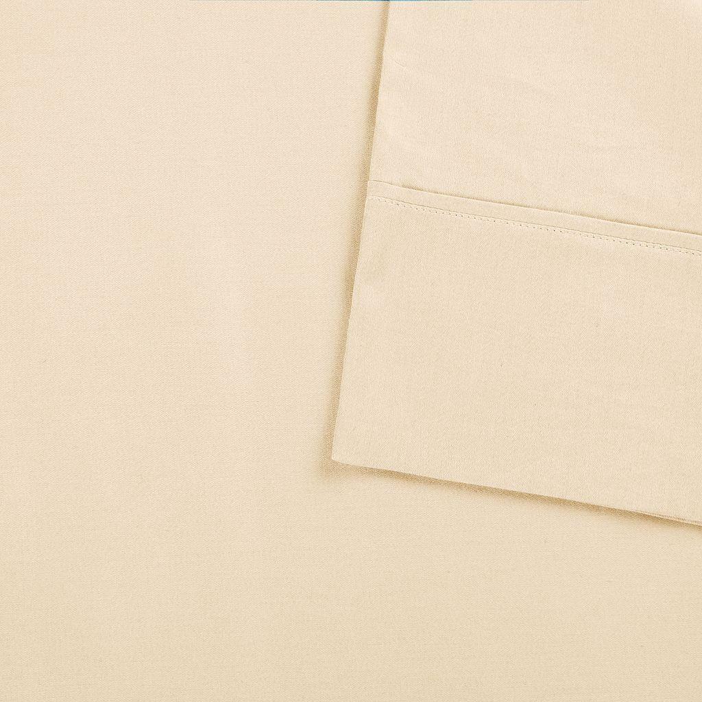 Sleep Philosophy Snug Grip 300 Thread Count Cotton Sateen Sheet Set