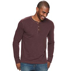 Men's SONOMA Goods for Life™ Classic-Fit Garment-Dyed Slubbed Henley