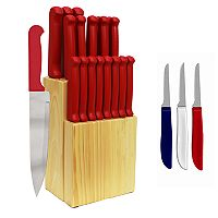 Ginsu Quikut Home Basics 23 pc Combo Cutlery Set