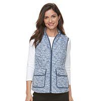 Women's Croft & Barrow® Zip-Up Quilted Vest