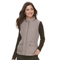 Women's Croft & Barrow® Zip-Up Quilted Vest