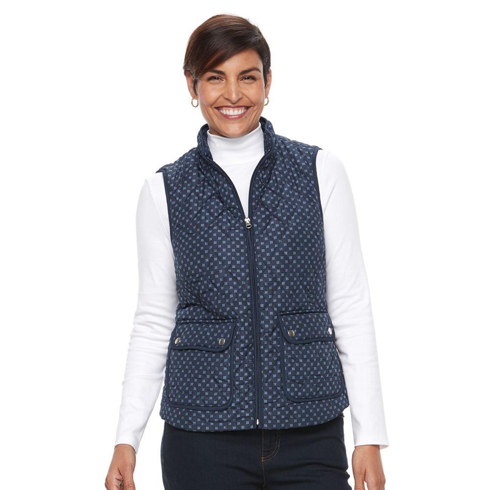 Croft & Barrow® Zip-Up Quilted Vest