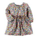 Baby Girl Carter's Braided Belt Tiny Flower Print Dress