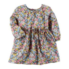 Baby Girl Carter's Braided Belt Tiny Flower Print Dress
