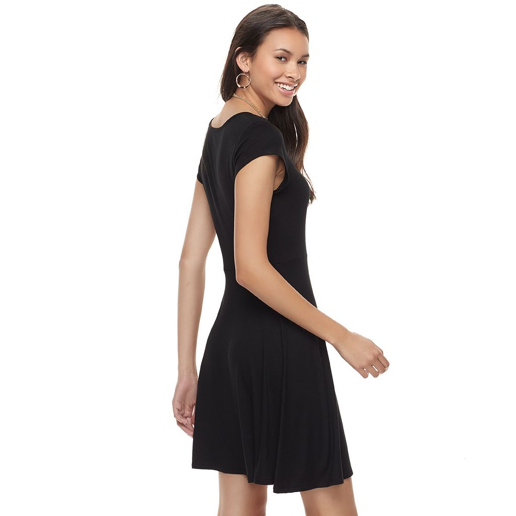 Juniors' SO® Cross Front Skater Dress