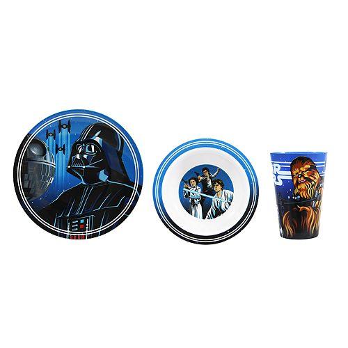 Star Wars: Episode VIII The Last Jedi 3-pc. Melamine Dinnerware Set by JB Disney Home
