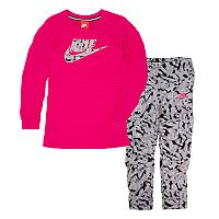Girls 4-6x Nike Long-Sleeved Dress & Leggings Set
