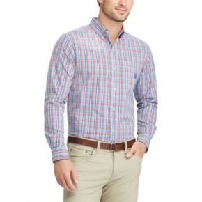 Men's Chaps Classic-Fit Stretch Poplin Button-Down Shirt