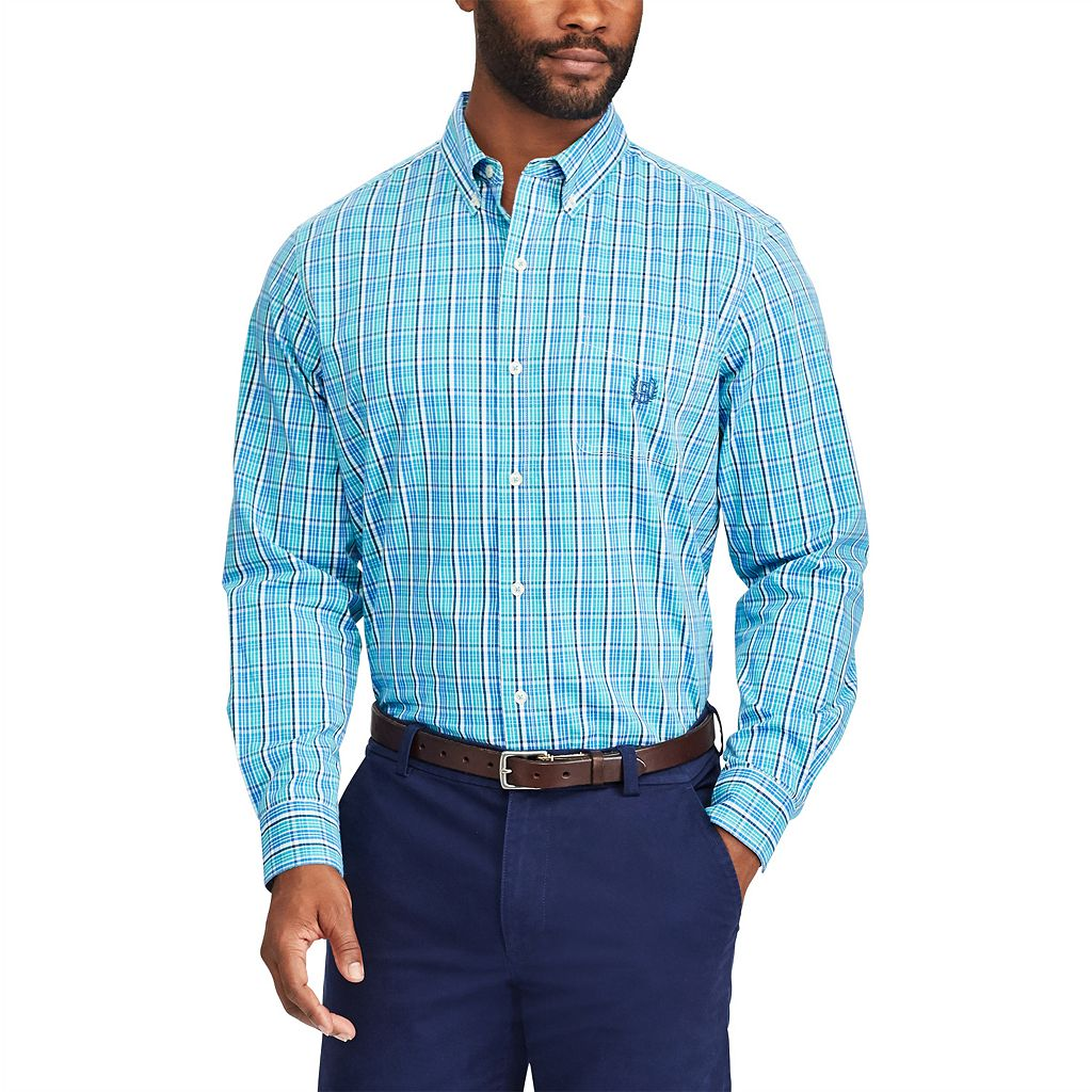 Men's Chaps Classic-Fit Stretch Poplin Button-Down Shirt