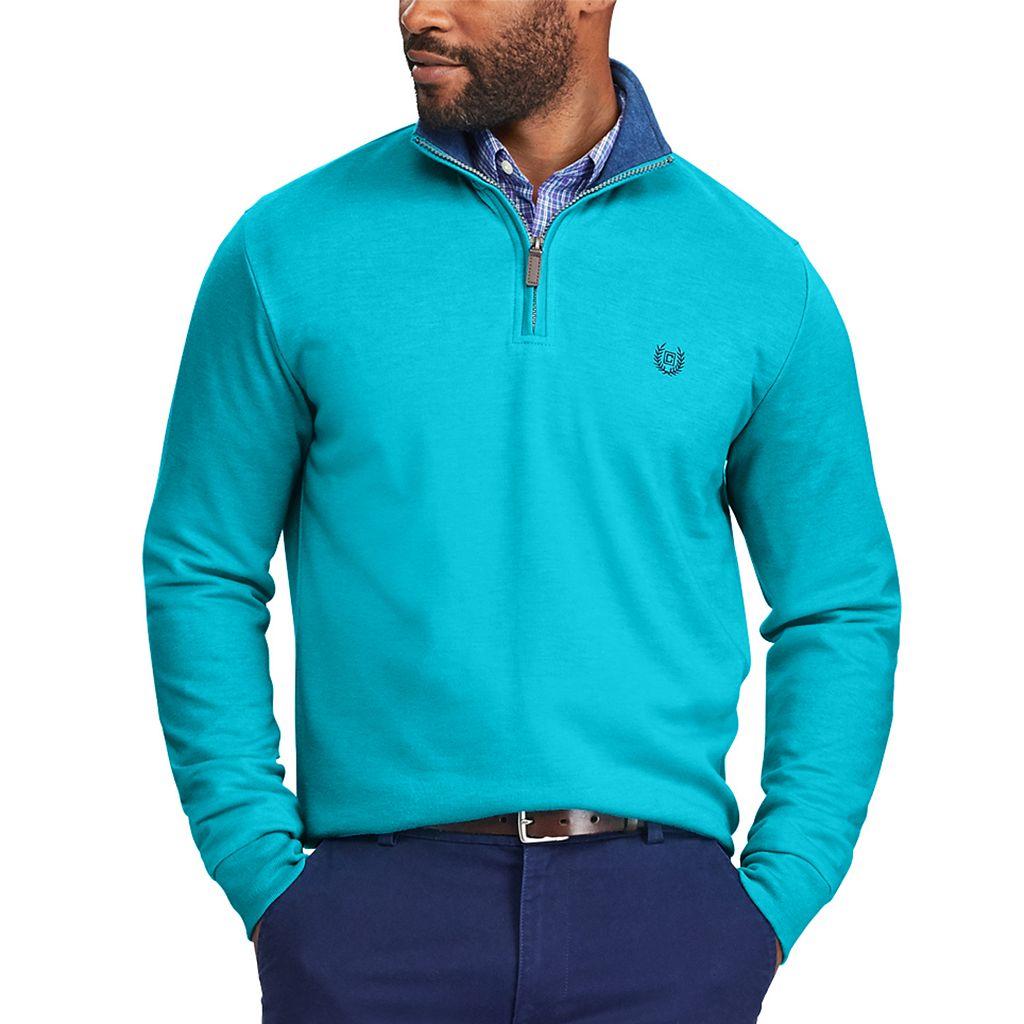 Men's Chaps Classic-Fit Easy-Care Quarter-Zip Pullover