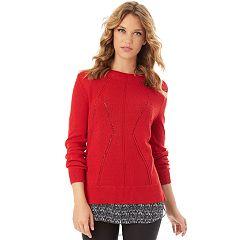 Women's Apt. 9® Pointelle Sweater