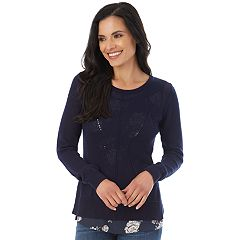 Women's Apt. 9® Pointelle Sweater