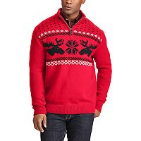 Men's Chaps Classic-Fit Fairisle Mockneck Sweater