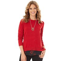 Women's Apt. 9® Button Back Sweater