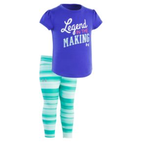 """Baby Girl Under Armour """"Legend in the Making"""" Graphic Tee & Leggings Set"""