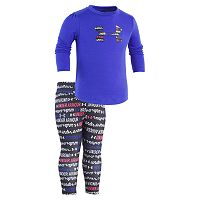 Baby Girl Under Armour Big Logo Wordmark Tee & Leggings Set
