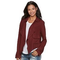 Juniors' About A Girl Draped Utility Jacket