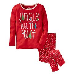 Girls 4-14 OshKosh B'gosh® 'Jingle All The Way' Christmas Top & Bottoms Pajama Set