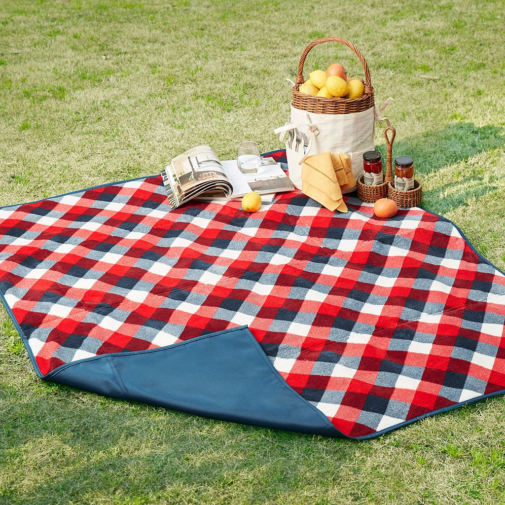 Madison Park Jackson Waterproof Picnic Blanket