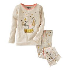 Girls 4-14 OshKosh B'gosh® Snow Globe Top & Tree Bottoms Pajama Set
