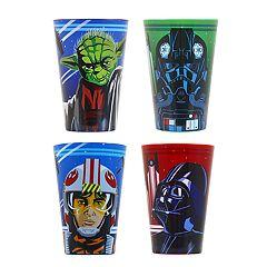 Star Wars: Episode VIII The Last Jedi 4 pc Juice Cup Set by JB Disney Home