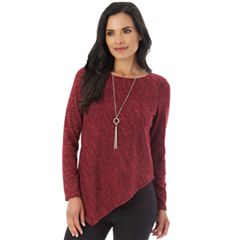 Women's Apt. 9® Spacedye Asymmetrical Top