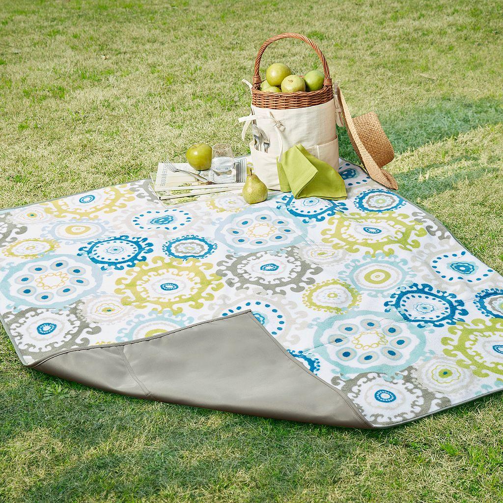Madison Park Laguna Waterproof Picnic Blanket