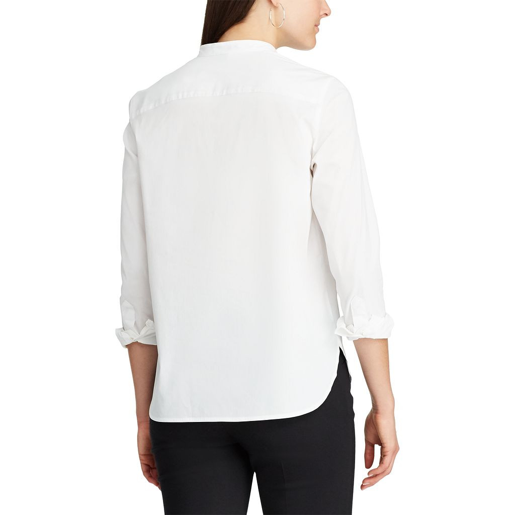Women's Chaps Striped Embroidered Shirt