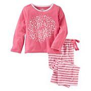 Girls 4-14 OshKosh B'gosh® 'Snow Days' Top & Striped Bottoms Pajama Set
